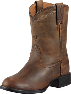 Ariat Youth Heritage Roper Distbrown Boots