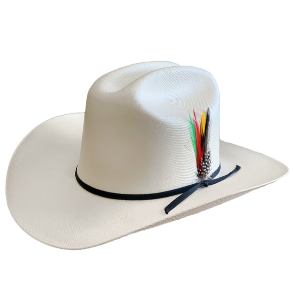 Tombstone 1000x Johnson Classic Cattleman Western Hat with Black Band (Estilo El Fantasma)
