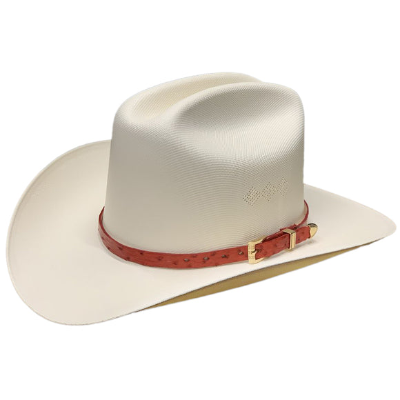 Tombstone 1000x Johnson Classic Cattleman Western Hat Red Ostrish Band