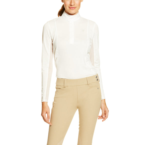 Ariat Womens Sunstopper Show Shirt White
