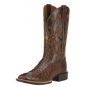 Ariat Mens Quantum Classic Western Boot Antique Tabac Fq Ostrich