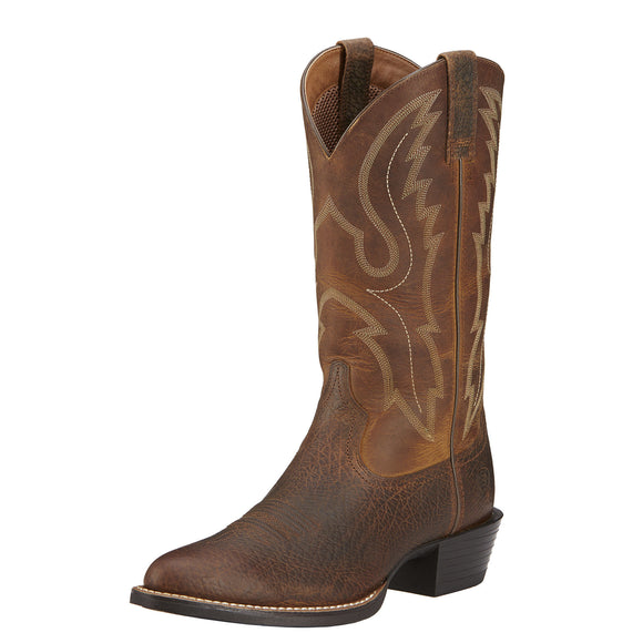 Ariat Mens Sport R Toe Western Boot Earth