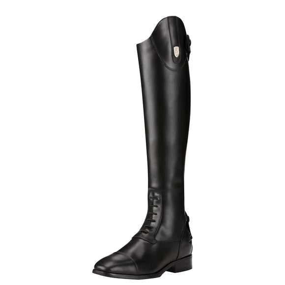 Ariat Womens Monaco Stretch Field Zip Tall Riding Boot Black