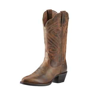 Ariat Womens Round Up R Toe Western Boot Dark Toffee