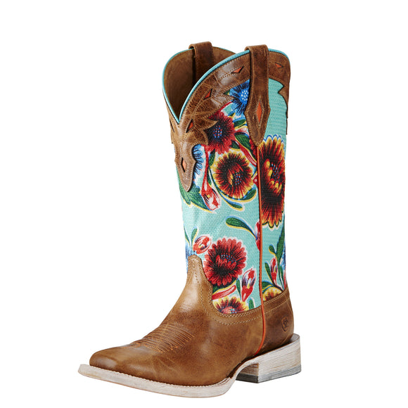 Ariat Womens Circuit Champion Western Boot Bite The Dust Brown