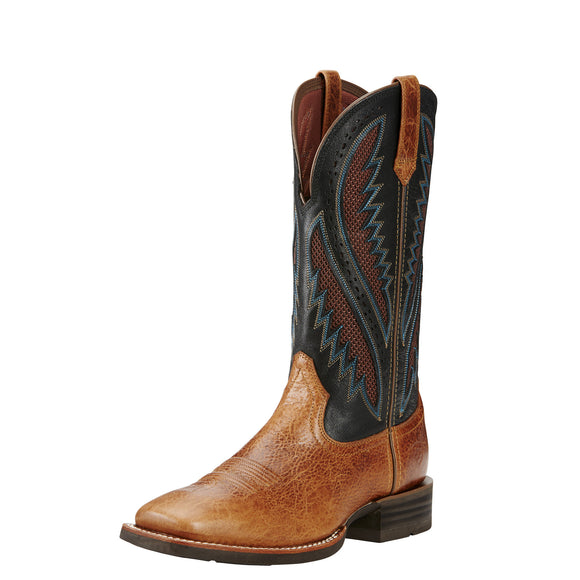 Ariat Mens Quickdraw Venttek Western Boot Glazed Bark