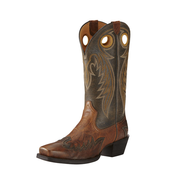 Ariat Mens Rival Western Boot Barn Brown