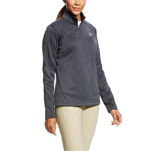 Ariat Womens Conquest 1/2 Zip Sweatshirt Ebony