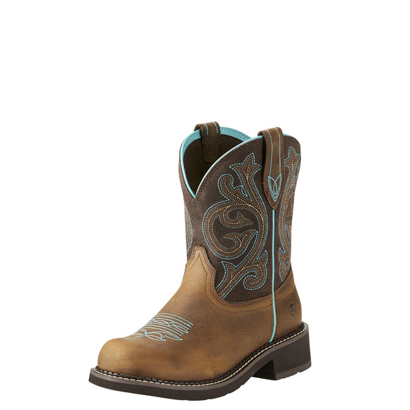 Ariat Womens Fatbaby Heritage Western Boot Distressed Brown/Fudge