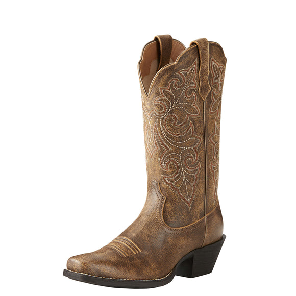 Ariat Womens Round Up Square Toe Western Boot Vintage Bomber