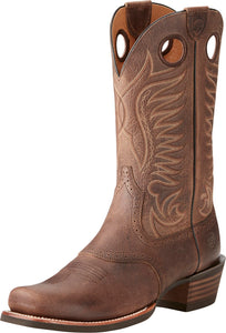 Ariat Mens Heritage Hotshot Backed Brown Western Boots