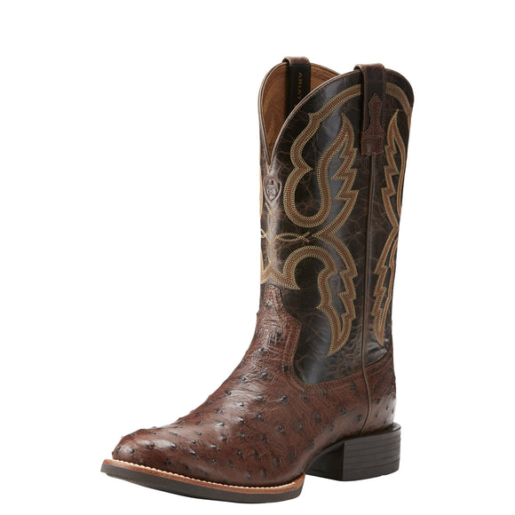 Ariat Mens Quantum Pro Western Boot Antique Tabac Fq Ostrich