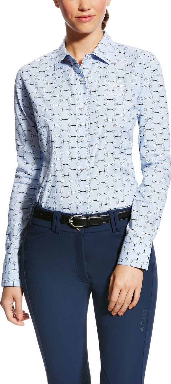 Ariat Womens Woodside Shirt Blue Bit Print