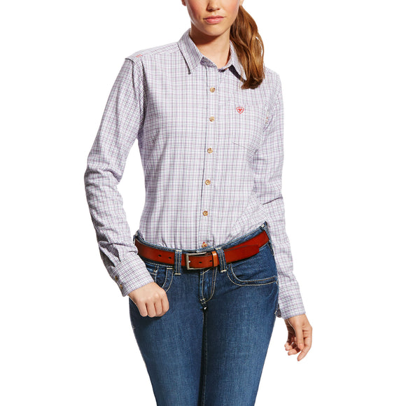 Ariat Womens Fr Marion Work Shirt Purple Noon