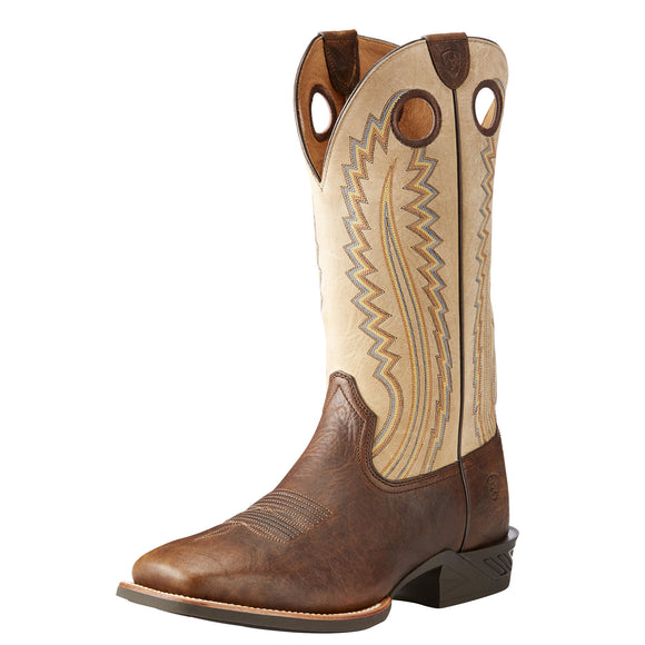 Ariat Mens Catalyst Plus Western Boots Bar Top Bison/ Baige