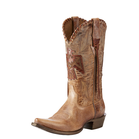 Ariat Womens Thunderbird X Toe Western Boot Crackled Tan