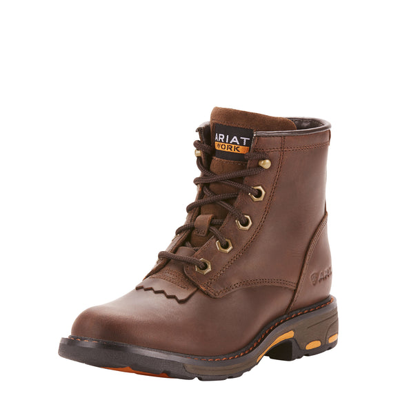 Ariat Youth WorkHog Lacer Brown Work Boots