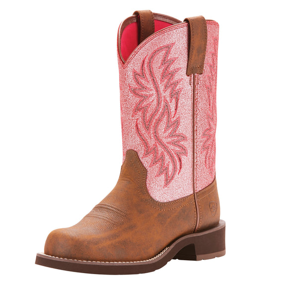 Ariat Womens Fatbaby Tali Toasted Brown/Bright Pink