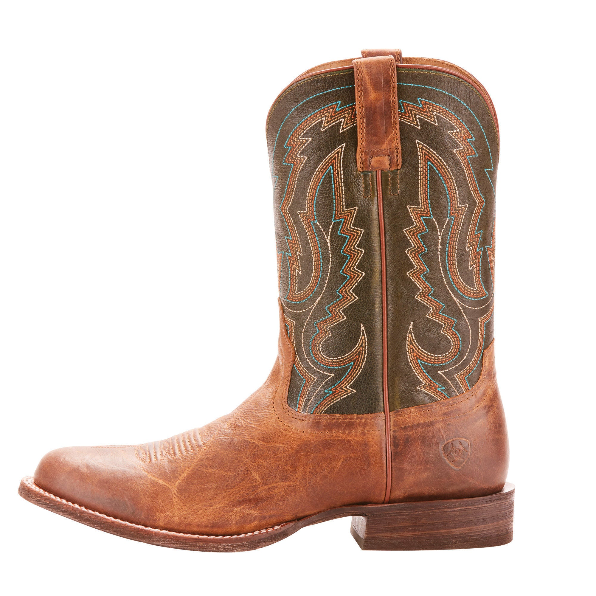 966ead8719e Ariat Mens Circuit Competitor Western Boots Tobbaco Toffee/Rifle ...