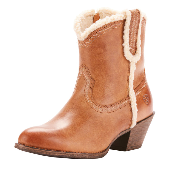 Ariat Womens Darlin Fleece Western Boots Sandstorm