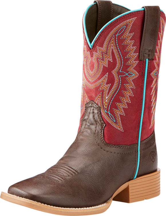 Ariat Kids Youth Bristo Western Boot Fudgesickle/Mild Maroon