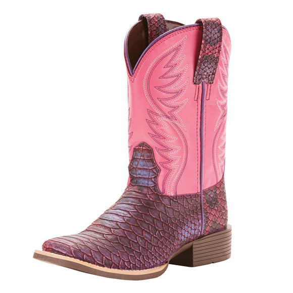 Ariat Girls Youth Brumby Western Boot Legarto Lavender/Bustin Begonia