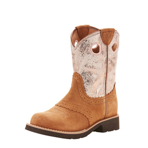 Ariat Kids Fatbaby Cowgirl Western Boot Back Country Tan