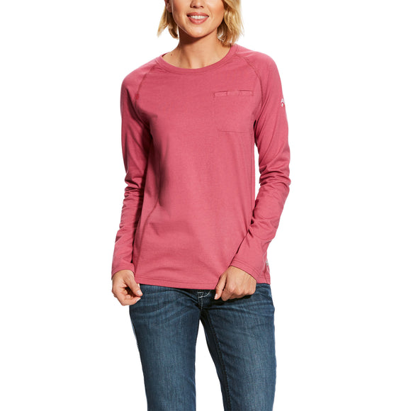 Ariat Womens Fr Air Crew T-Shirt Rose Violet