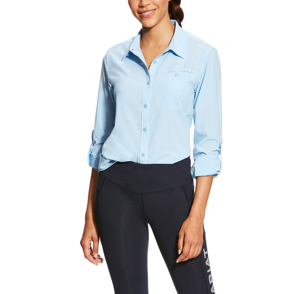 Ariat Womens Venttek Ii Stretch Shirt Powder Blue