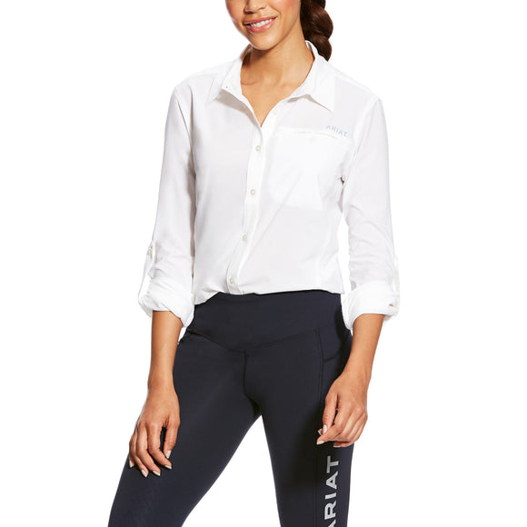 Ariat Womens Venttek Ii Stretch Shirt White