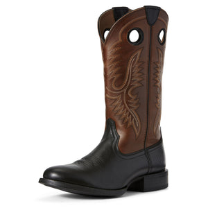 Ariat Mens Sport Big Hoss Western Boot Black Carbon