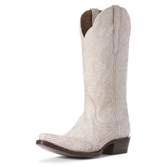 Ariat Womens Sterling Western Boot Crackled White