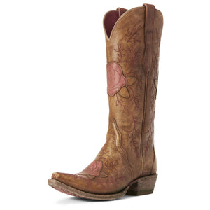 Ariat Womens Rosalind Western Boot Naturally Distressed Brown