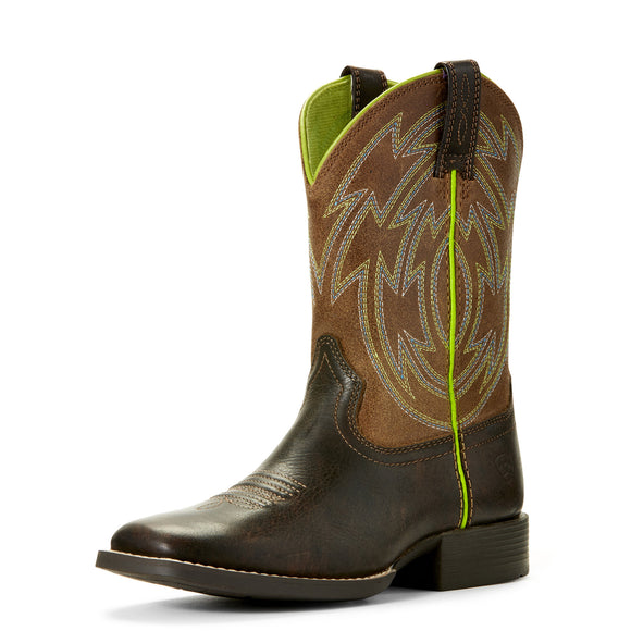 Ariat Kids Crossdraw Western Boot Espresso