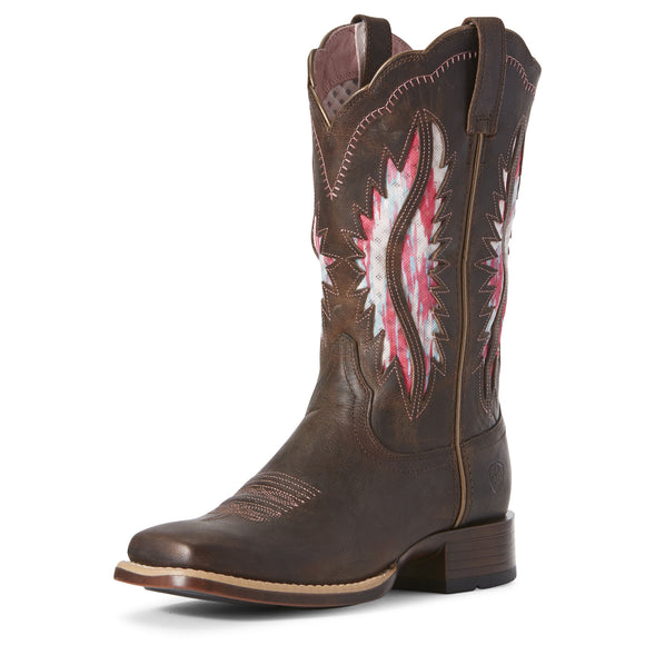 Ariat Womens Solana Venttek Western Boot French Roast