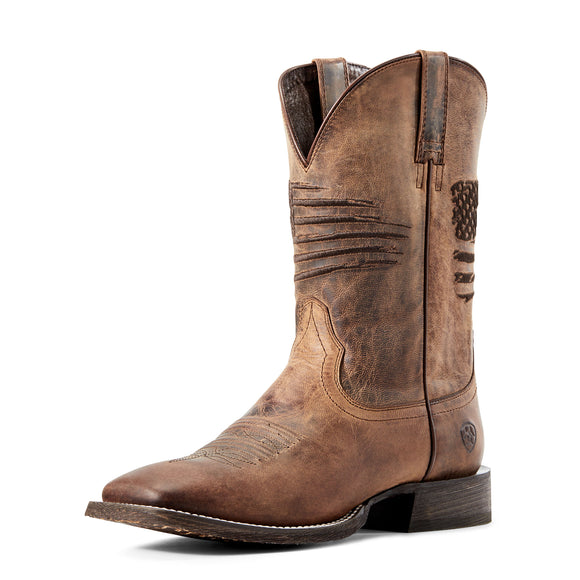 Ariat Mens Circuit Patriot Weathered Tan