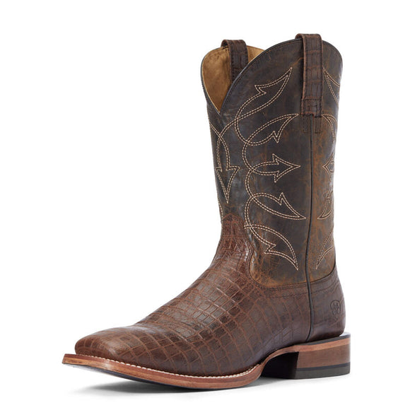 Ariat Mens Circuit Scrapper Cocoa Crocodile Print Western Boot