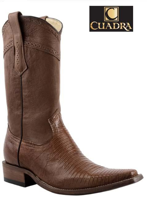 Men's CUADRA Boots Lizard Teju Honey Versache - 1B01LT