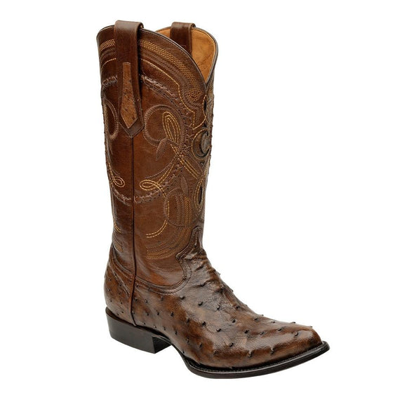 Cuadra Men's Porto Maple Ostrich Cowboy Boots R-Toe - RR Western Wear, Cuadra Men's Porto Maple Ostrich Cowboy Boots R-Toe