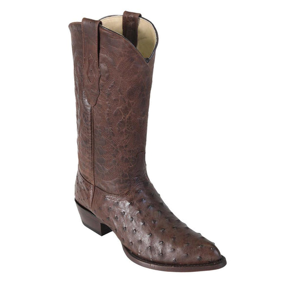 Ostrich-Brown-J-Toe-Cowboy-Boot-Los-Alto