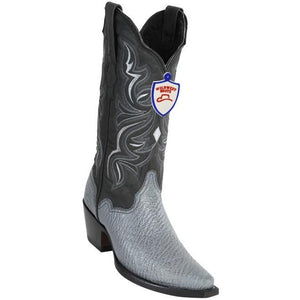 Wild West Boots Womens Genuine Shark Skin Snip Toe Western Boot Color-Grey
