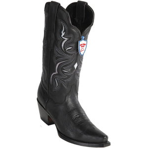 Wild West Boots Womens Genuine Leather Snip Toe Western Boot Color-Black