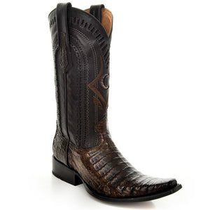 Cuadra Men's European Caiman Boot -Lumber Bone - RR Western Wear, Cuadra Men's European Caiman Boot -Lumber Bone