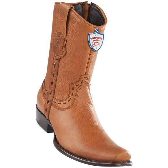 Wild-West-Boots-Mens-Genuine-Leather-Grisly-Leather-Dubai-Toe-Short-Boots-Color-Honey