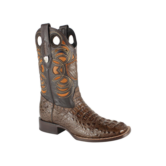 Men's Wild West Caiman Hornback Boots Square Toe Handcrafted - 28240207