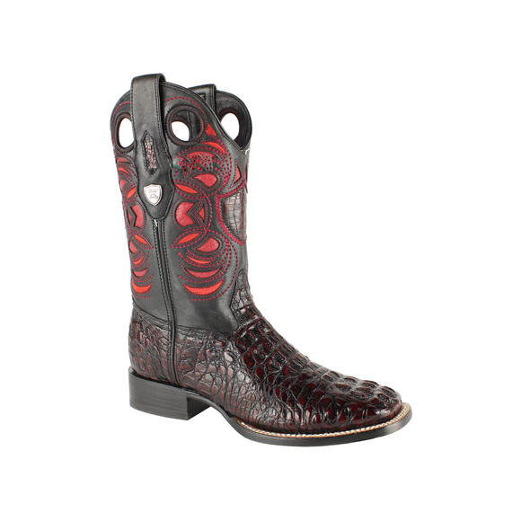 Men's Wild West Caiman Hornback Boots Square Toe Handcrafted - 28240218