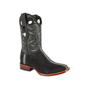 Men's Wild West Stingray Boots Square Toe Handcrafted - 28241105