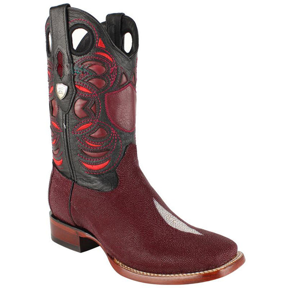 Men's Wild West Stingray Boots Square Toe Handcrafted - 28241206