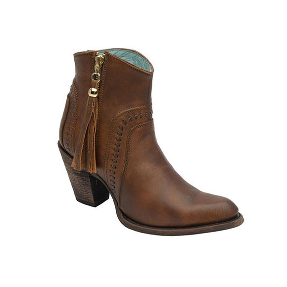 Corral Cognac Ankle Boot - RR Western Wear, Corral Cognac Ankle Boot