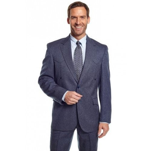 Circle S Men's Apparel - Heather Vegas Sportcoat - Navy - RR Western Wear, Circle S Men's Apparel - Heather Vegas Sportcoat - Navy